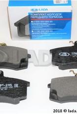 LADA 1118-3501800-83, Plaquette de frein set (4)  Lada Kalina