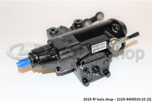 LADA 2123-3400010-22, El mecanismo de dirección con booster hidráulico y un conjunto de bípode