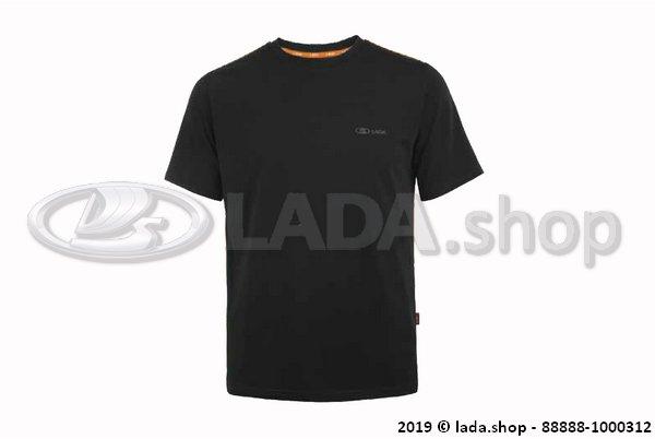 LADA 88888-1000312, Camiseta con costuras laterales naranja LADA
