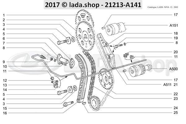 LADA 2123-1006020-87, Pignon fixe. arbre a cames