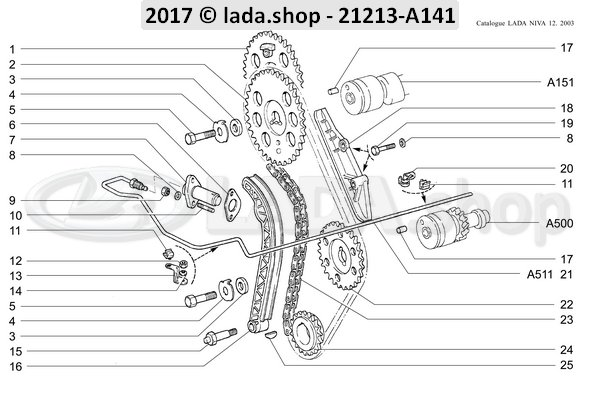 LADA 2123-1006020-87, Ritzel Set. Nockenwelle