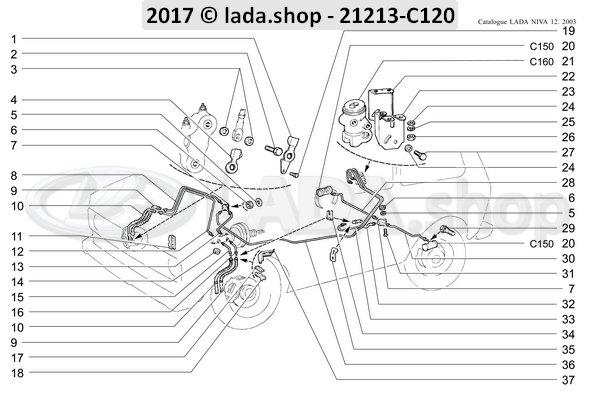 LADA 2121-3506076, Beugel. RH