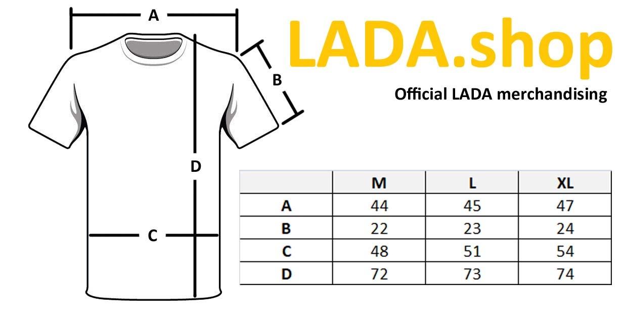 LADA 88888-1000312, T-shirt com costuras laterais cor-de-laranja LADA