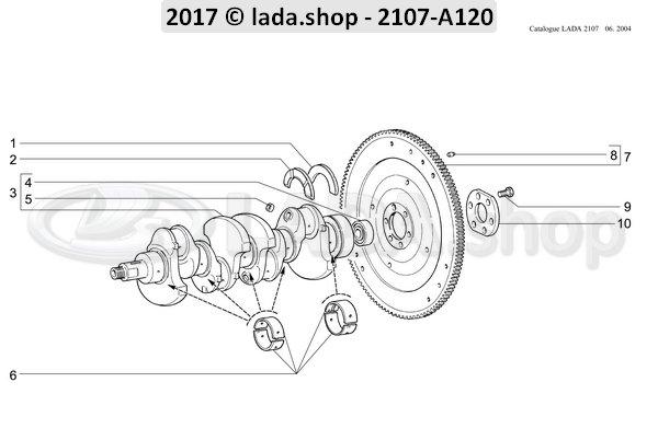 LADA 2101-1000102-13, Jgo. de cojinetes +0.75
