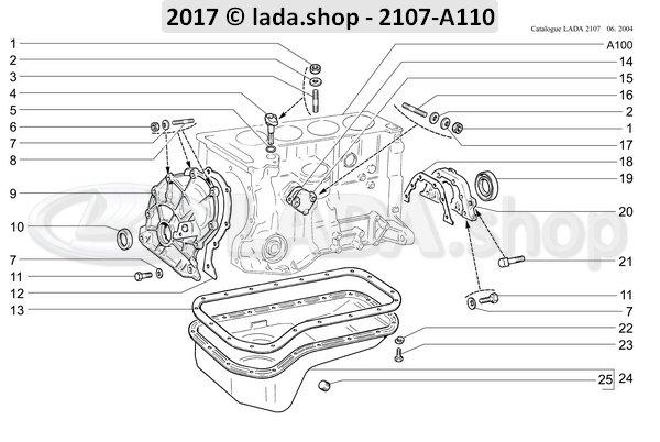 LADA 2101-1005153, Porta retén trasero
