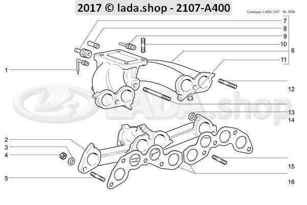 LADA 2101-1008016-01, Tubo de drenaje