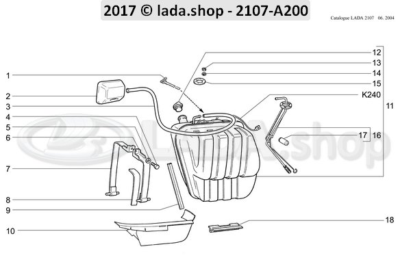 LADA 2101-1101110, Outer clamp