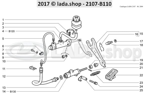 LADA 2101-1602510, Clutch slave cylinder