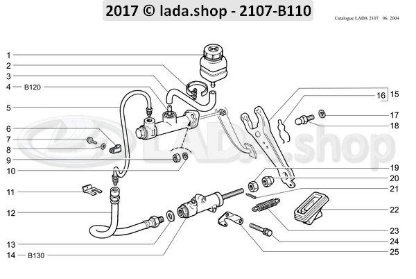 LADA 2101-1602560, Reservatório De Fluido De Freio