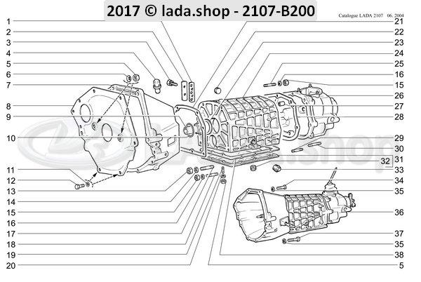 LADA 2101-1702091, pakking deksel