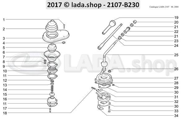LADA 2101-1703106, Pad. Amortecedor