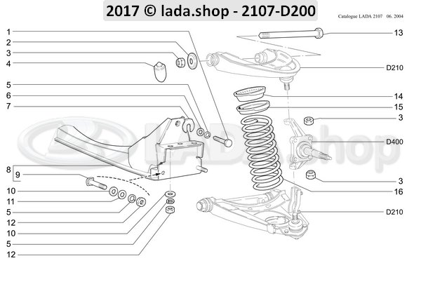 LADA 2101-2904112, Shaft. bovenste hendel