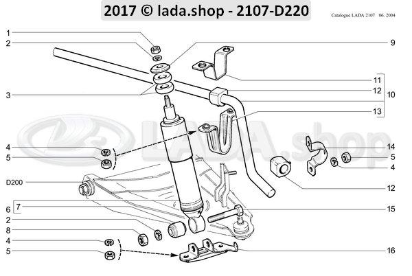 LADA 2101-2906040, Rubber. anti-roll bar