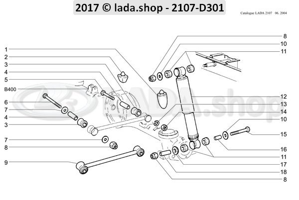 LADA 2101-2906231, Montagem De Borracha. Shockabsober