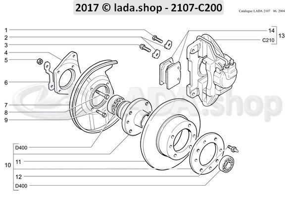 LADA 2101-3001040, borgplaat