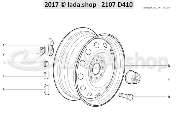 LADA 2101-3101040, Tornillo de rueda