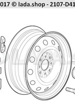 LADA 2101-3101301-25, Peso de rueda de 25 gm
