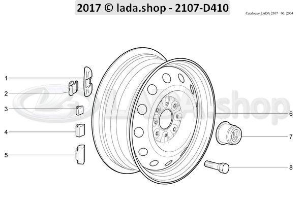 LADA 2101-3101301-30, Peso de rueda de 30 gm