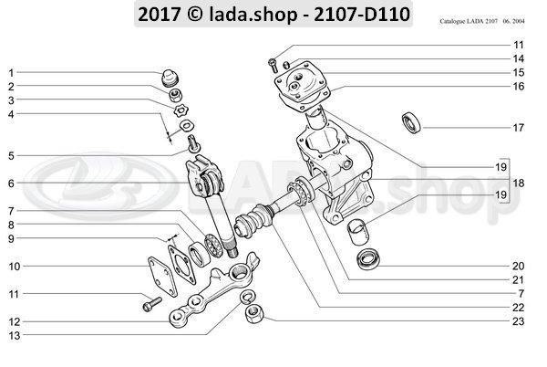 LADA 2101-3401054, pakking bovenste