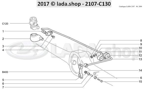 LADA 2101-3512136, Douille entretoise de boucle
