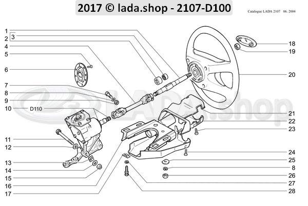LADA 2101-3704324-10, Tornillo M6