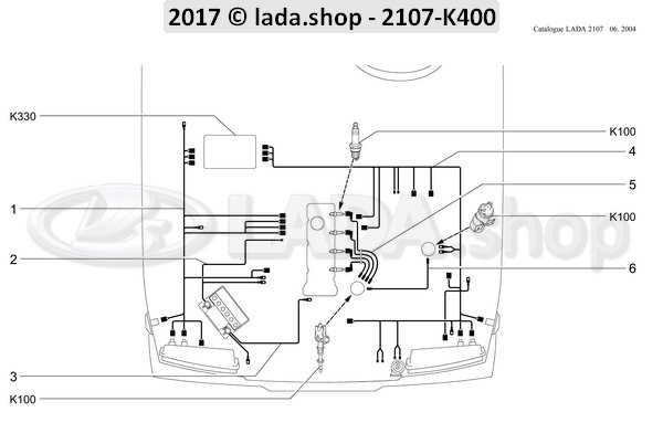 LADA 2101-3707080-10, Jgo. cable encendido