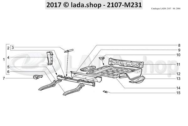 LADA 2101-5101171, Belt bracket