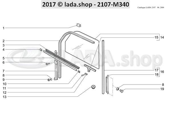 LADA 2101-6103241, Achter geleiderail. LH