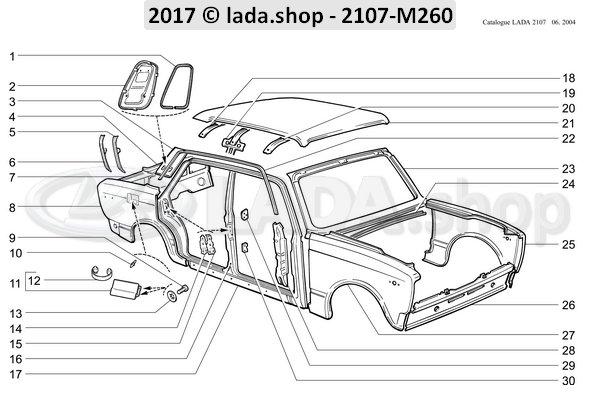 LADA 2101-6106128, Placa inferior