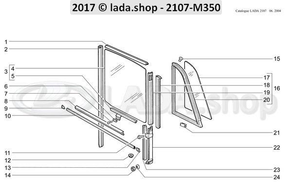 LADA 2101-6203291, Venster slot seal. LH
