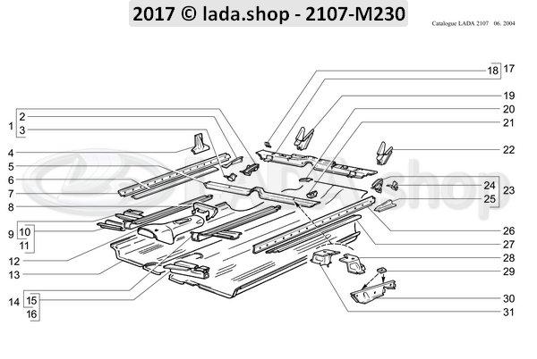 LADA 2101-6810027, Soporte delantero