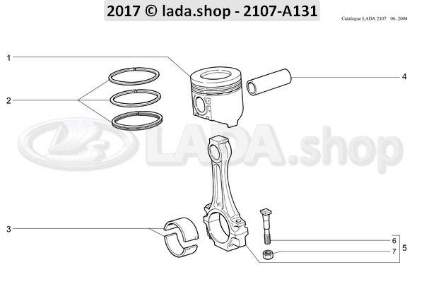 LADA 21011-1004015-31, Oversize piston 79 +0.4 mm
