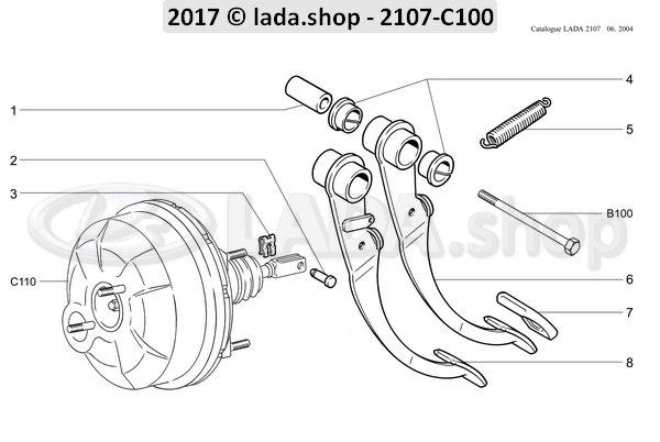 LADA 2103-3504010-02, Rempedaal