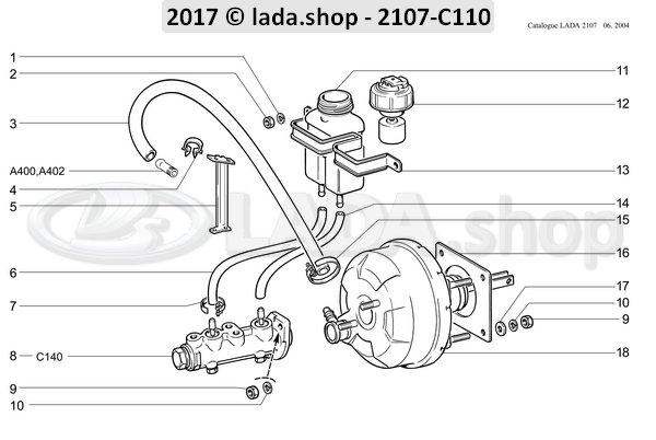 LADA 2103-3510050-01, Hose. servo unit 900 mm