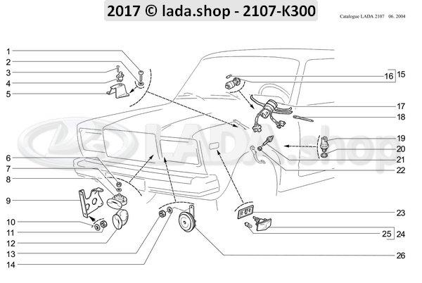 LADA 2103-3803138, Soporte de interruptor