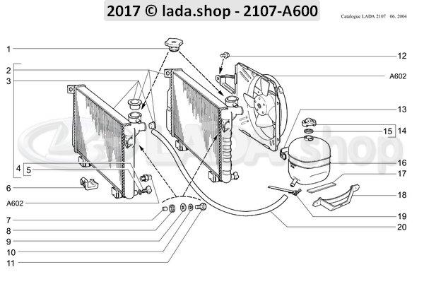 LADA 2105-1311065, Tampa Do Tanque De Expansão
