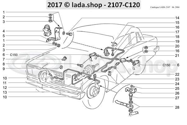 LADA 2105-3502040-82, Wheelcylinder Freio. Traseiro