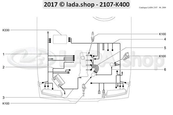 LADA 2105-3724016, Bedrading. voorzijde