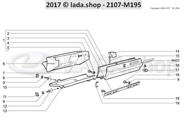 LADA 2105-5303034, Hinge. lid
