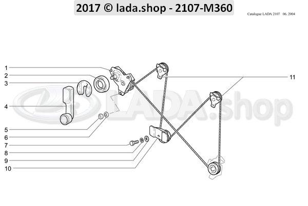 LADA 2105-6104020, Elevalunas delantero