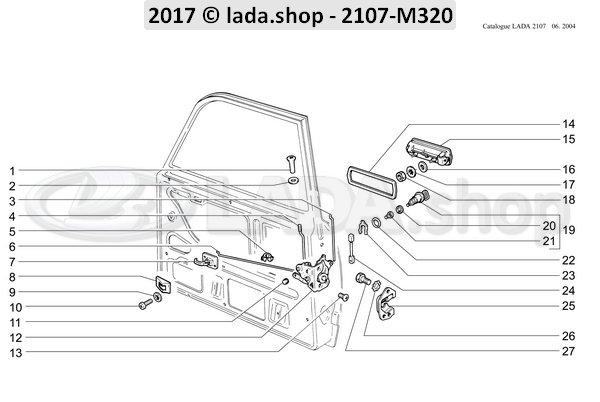 LADA 2105-6105205, Fijador del cierre de puerta izq.
