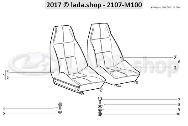 LADA 2105-6810054, Tornillo M8x16