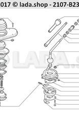 LADA 2107-1703097, Plate. Alavanca