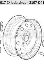 LADA 2107-3101013-01, Cap de roue