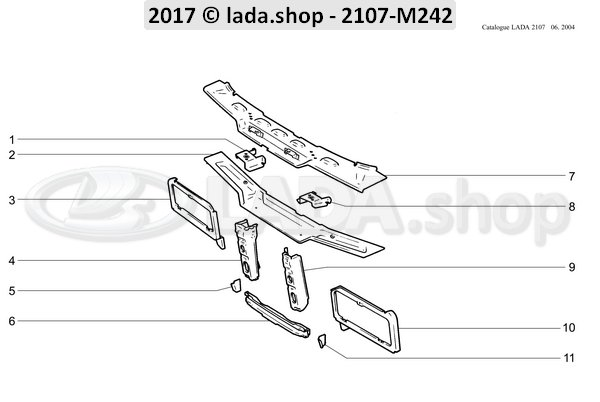 LADA 2107-8401069, Reinforcing element. LH