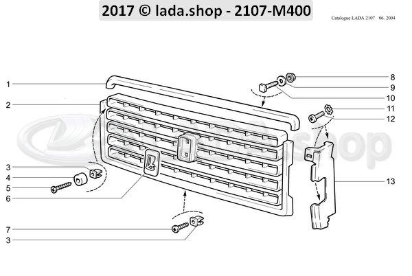 LADA 2107-8402108, Tornillo de moldura M5x14