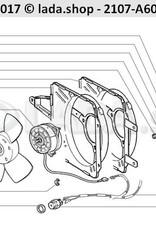 LADA 2109-1308008-01, Elektrische ventilator assy