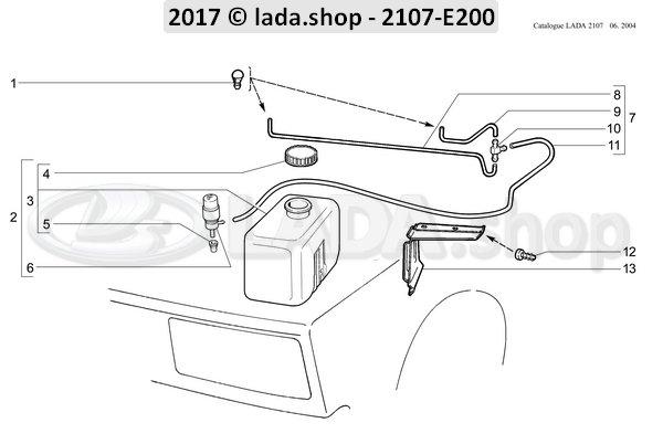 LADA 2121-5208238, Tee screenwasher