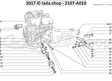 C7 Engine mounting