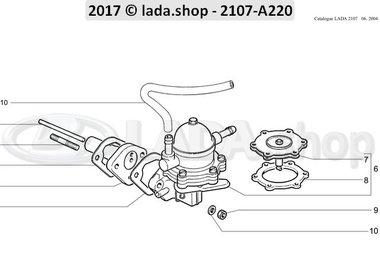 C7 Brandstof pomp montage